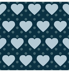 Polka dot hearts vector