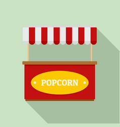Popcorn street shop icon flat style vector