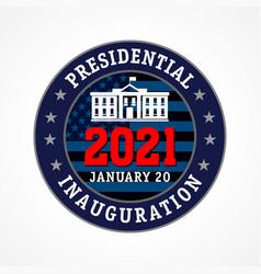 Presidential inauguration usa 2021 emblem vector