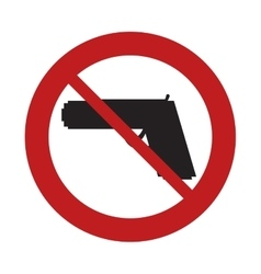 prohibited sign road gun weapon danger arm vector image