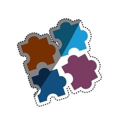 Puzzle game pieces vector