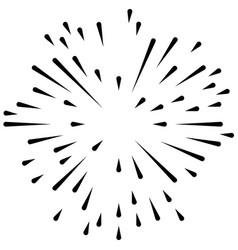 radial radiating irregular asymmetric lines vector image