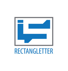 rectangle initial letter is logo concept design vector image