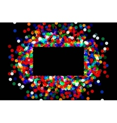 rectangular frame with confetti vector image