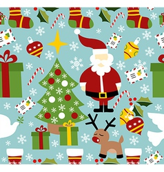 Santa Claus Christmas pattern vector image