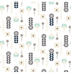 Scandinavian folk floral garden art pattern vector