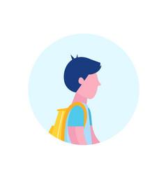 School boy profile avatar icon isolated male vector