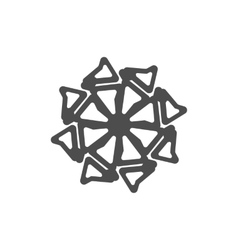 Snowflake on a white background vector image