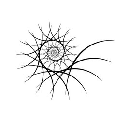 Spiral design elements abstract lines black and vector