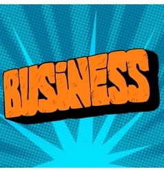 stone text the word business vector image