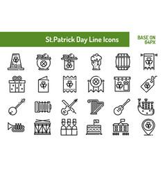 stpatricks day icon set outline icon base on 64 vector image