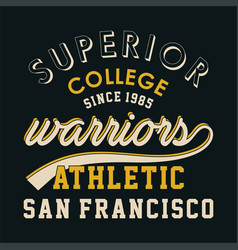 Superior college warriors vector