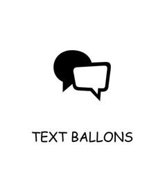 Text ballons flat icon vector