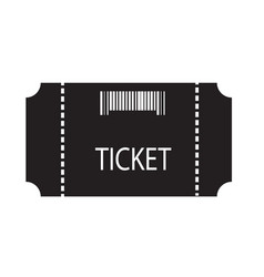 ticket icon on white background flat style vector image vector image