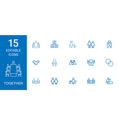Together icons vector