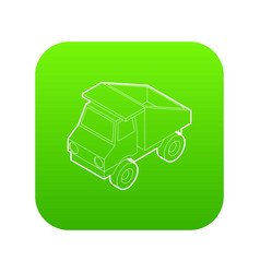 toy truck icon green vector image