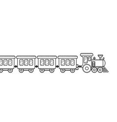 train coloring book for kids black and white vector image