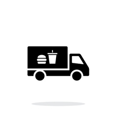 Truck with food simple icon on white background vector image
