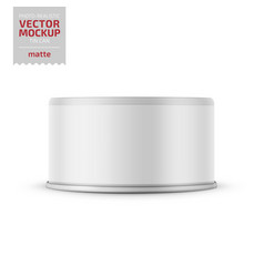 tuna can with label on white background vector image