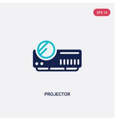 Two color projector icon from electronic devices vector