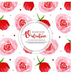 valentine pattern background vector image