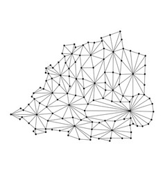 Vatican map of polygonal mosaic lines network ray vector