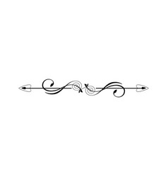 Vintage calligraphic divider - retro decorative vector