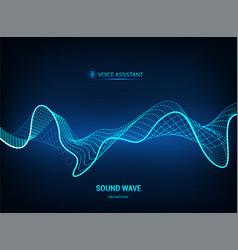 Voice assistant concept sound wave vector