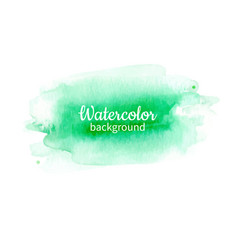 Watercolor geen abstract hand painted background vector