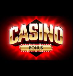 welcome casino bonus banner first deposit bonus vector image