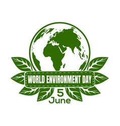 world environment day logo design vector image