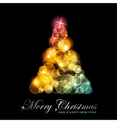 colorful stylized christmas tree vector image