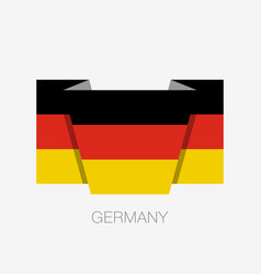 flag of germany flat icon waving flag with vector image