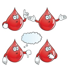 Thinking blood drop set vector image vector image