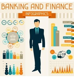 Banking and finance infographics vector image