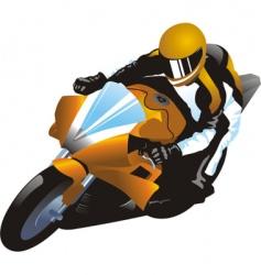 motorcycle racer vector image vector image
