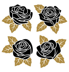 roses set 001 vector image