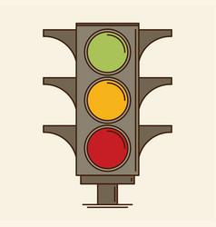 traffic light single flat icon vector image vector image