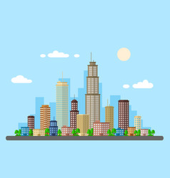 urban landscape picture vector image