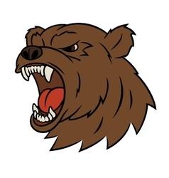 Angry bear head 2 vector image vector image