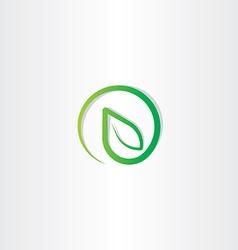 bio leaf eco green nature logo icon vector image vector image
