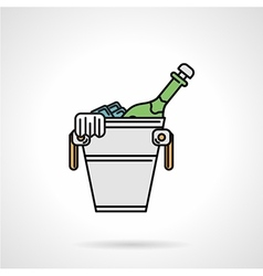 Cooling bucket flat color icon vector image vector image