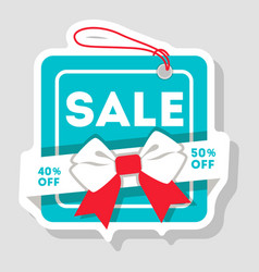 Discount sale isolated retail label vector