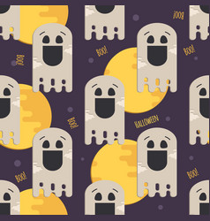 halloween funny ghost seamless pattern vector image