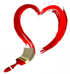 heart shape stroke vector image