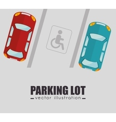 parking lot design vector image vector image