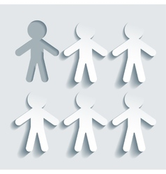 Stand out form the crowd vector image