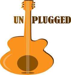 Unplugged vector image vector image
