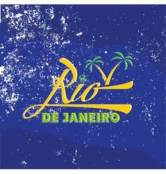 vintage of Rio de Janeiro vector image vector image