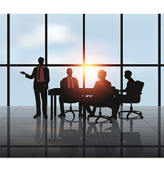 Business meeting with city vector image
